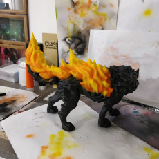 Picture of print of Fire Wolf - Monstrous Creature - DnD - 32mm scale