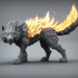 Fire Wolf - Monstrous Creature - DnD - 32mm scale primary image