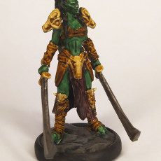 Picture of print of Two Blade - Female Orc Commander - PRE SUPPORTED - 32 mm scale miniature