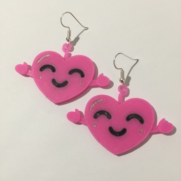 Japanese Kawaii Heart Emoji Earrings