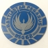 Battlestar Pegasus BSG-62 Emblem Coaster image