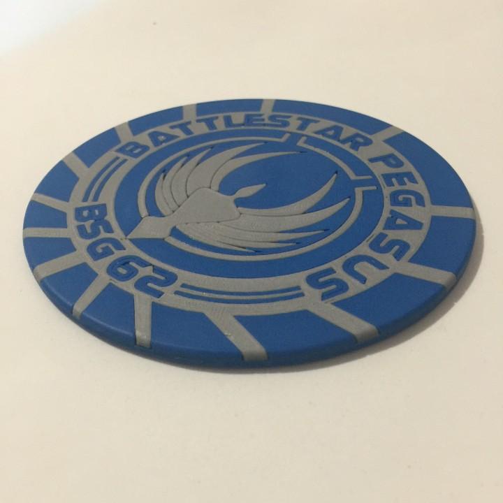 Battlestar Pegasus BSG-62 Emblem Coaster
