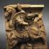Equestrian combat - Relief in terracotta image