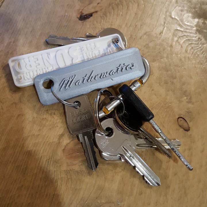 Mathematics keychain