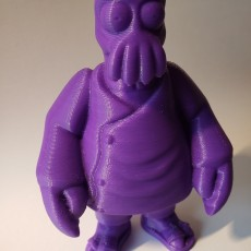 "Picture of print of Dr. Zoidberg from ""Futurama"""