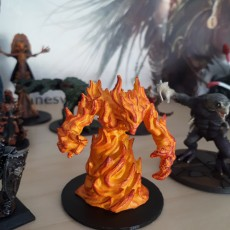 Picture of print of Fire Elemental - DND Miniature