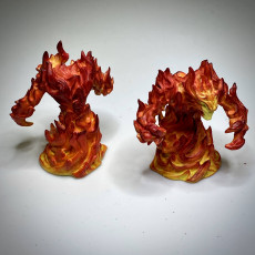 Picture of print of Fire Elemental - DND Miniature - PRESUPPORTED - 32mm Scale