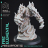 Fire Elemental - DND Miniature - PRESUPPORTED - 32mm Scale image