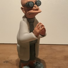 "Picture of print of Professor Farnsworth from ""Futurama"""
