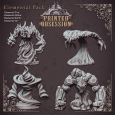 4 Elemental Pack - Table Top Miniatures