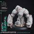 4 Elemental Pack - PRESUPPORTED - 32mm scale - D&D image