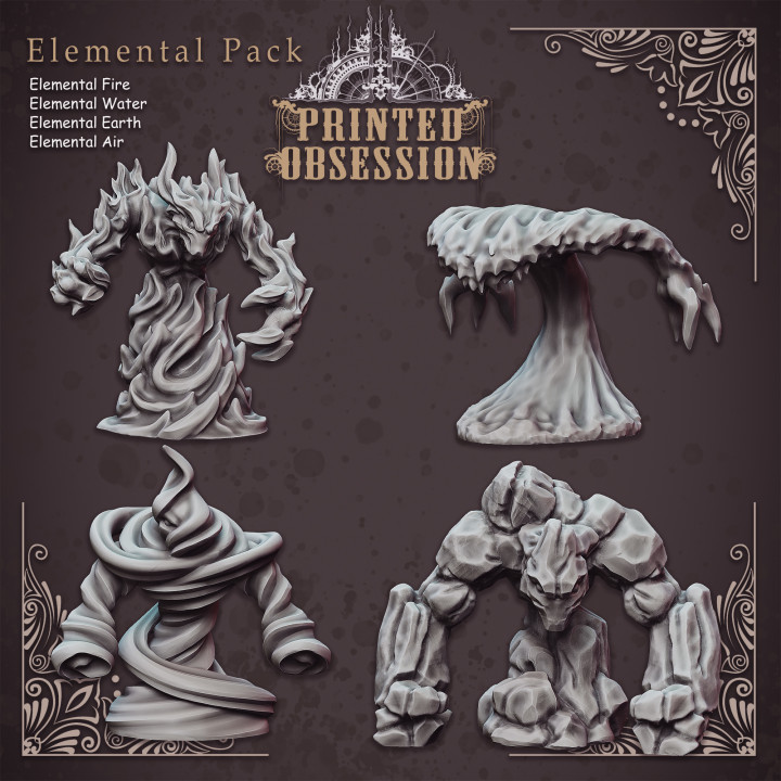 4 Elemental Pack - Table Top Miniatures