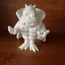 "Picture of print of Lrrr, ruler of the planet Omicron Persei 8 from ""Futurama"""