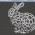 Bowl ellipse shape (with voronoi pattern) image