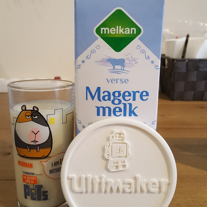 Coaster with Ultimaker logo