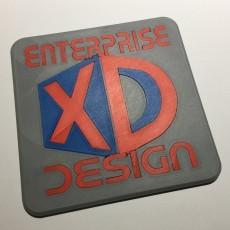 Enterprise XD Design Logo Coaster