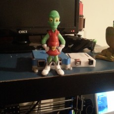 "Picture of print of Kif Kroker from ""Futurama"""