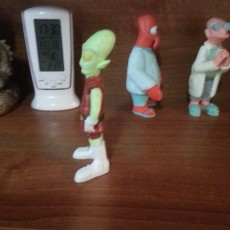 """Picture of print of Kif Kroker from """"Futurama"""""""