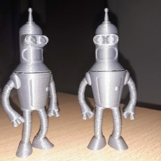 """Picture of print of Bender from """"Futurama"""""""