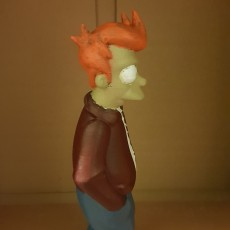 "Picture of print of Philip J. Fry from ""Futurama"""