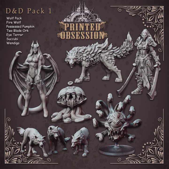 Ultimate D&D Collection 1 - 8 stls included.