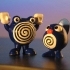 Poliwhirl and Poliwag - Pokemon -  Check out my profil for more pokemon characters primary image