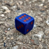 Simple 16mm Dice // Single and Dual Color print image