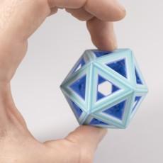 Wireframe Icosahedron // Folding Polyhedra