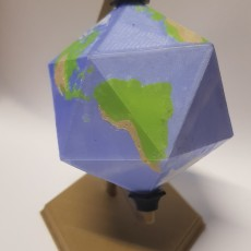 Picture of print of Icosahedron Earth // Folding Polyhedra