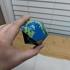 Icosahedron Earth // Folding Polyhedra print image