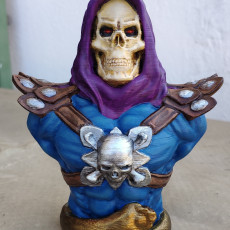 "Picture of print of Skeletor-Bust from ""Masters of the Universe"" (Support Free Model)"