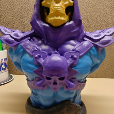 """Picture of print of Skeletor-Bust from """"Masters of the Universe"""" (Support Free Model)"""
