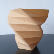 Picture of print of Facet Spiral Vase