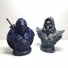 "Picture of print of He-Man Bust from ""Masters of the Universe"" (Support Free Model)"