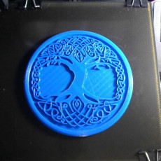 Picture of print of Celtic tree of Life drink-coaster