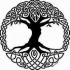 Celtic tree of Life drink-coaster image