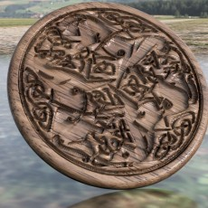 Celtic horses drink-coaster