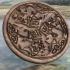 Celtic horses drink-coaster image