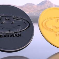 Batman drinkcoaster pair