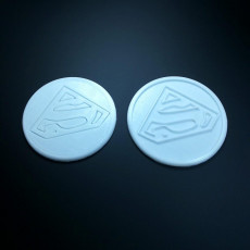 Picture of print of Superman coaster pair
