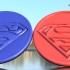 Superman coaster pair image