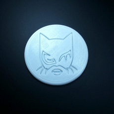 Picture of print of Catwoman coaster pair