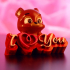"""Valentine's Day Collection: """"Bear Cup"""" + """"I Love You""""  (Support free / Easy to print) primary image"""