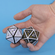 Multicolor Folding D20 Dice // 20 Sided Icosahedron Dice