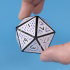 Multicolor Folding D20 Dice // 20 Sided Icosahedron Dice image