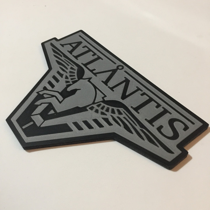 Stargate Atlantis Logo Coaster