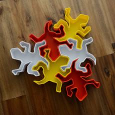 Lizard Tessellation Box (with apologies to M.C. Escher!)