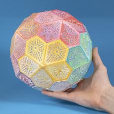 Folding Pentagonal Hexacontahedron Puzzle