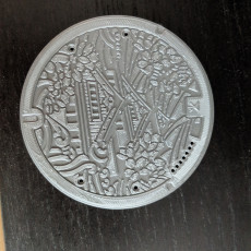 Picture of print of the Manhole Project // 001 Osaka (Coaster)