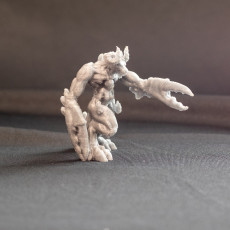 Picture of print of Claw Handed Demon - Greater Demon - 32 mm scale table top miniature (Pre-supported)